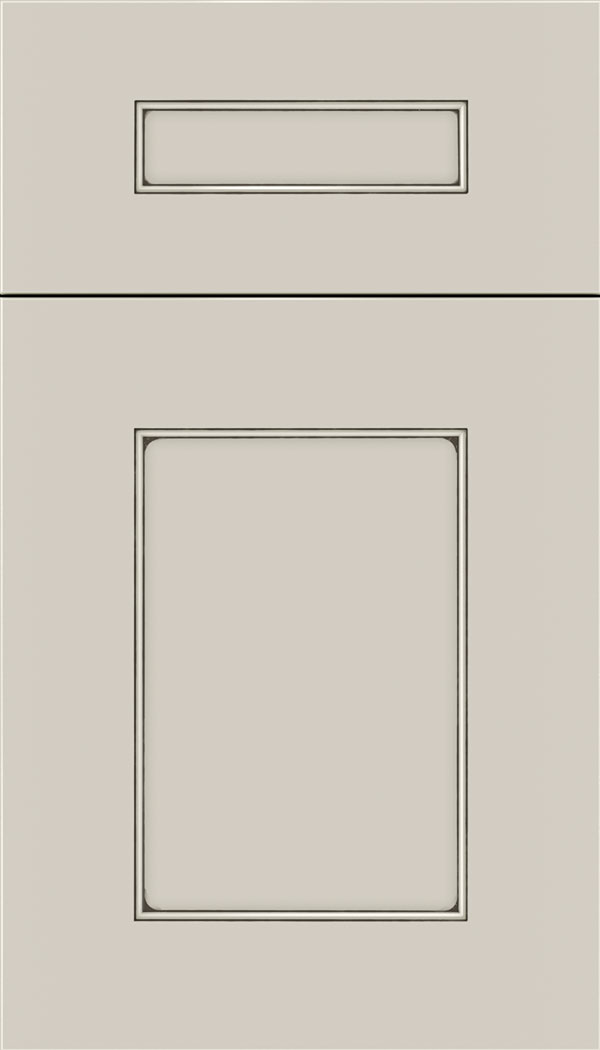 Cochrane 5pc MDF cabinet door in Cirrus with Smoke glaze