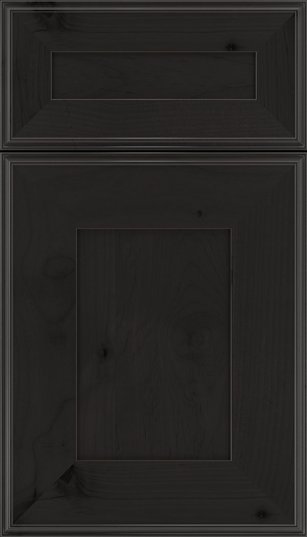 Elan 5pc Alder flat panel cabinet door in Charcoal