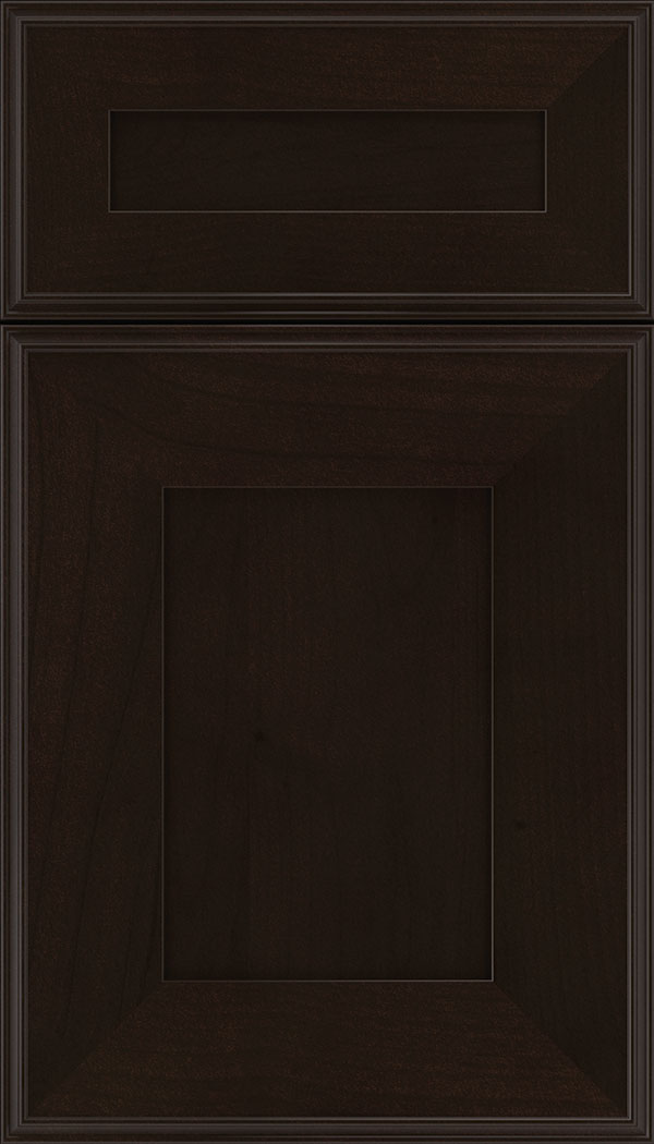 Elan 5pc Alder flat panel cabinet door in Espresso