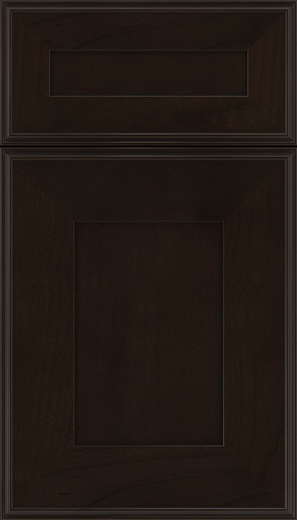 Elan 5pc Alder flat panel cabinet door in Espresso with Black glaze