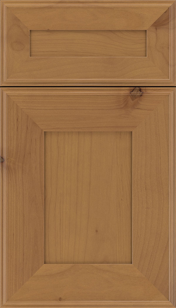 Elan 5pc Alder flat panel cabinet door in Ginger