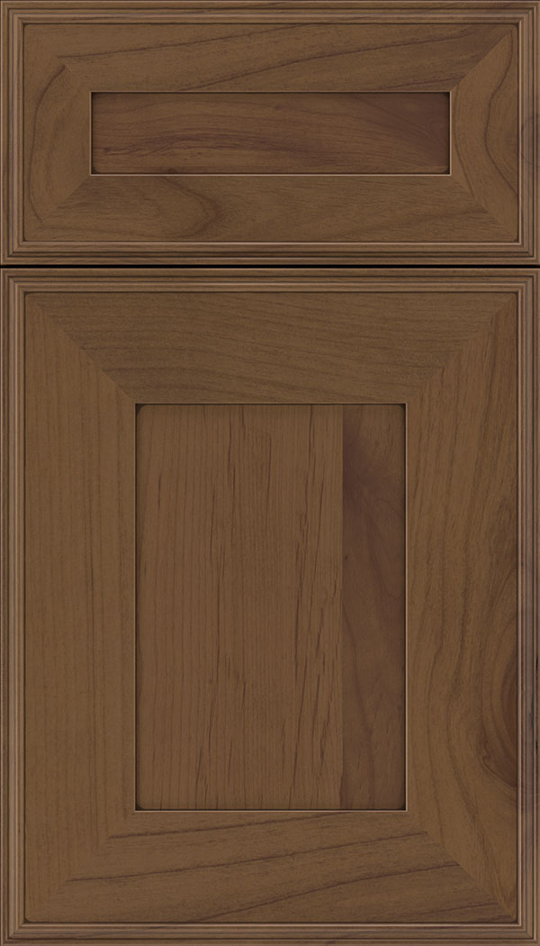 Elan 5pc Alder flat panel cabinet door in Sienna with Mocha glaze