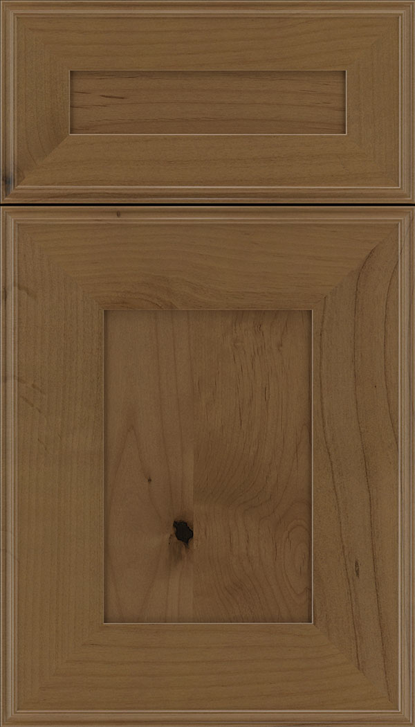 Elan 5pc Alder flat panel cabinet door in Tuscan