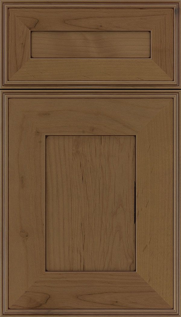 Elan 5pc Alder flat panel cabinet door in Tuscan with Mocha glaze