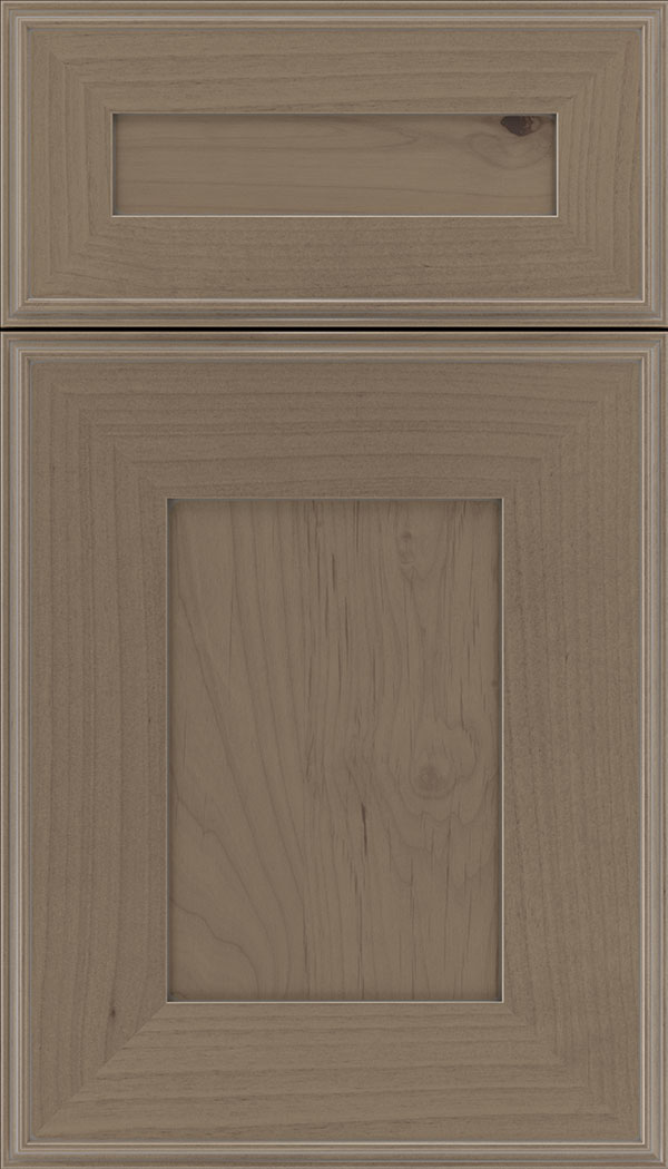 Elan 5pc Alder flat panel cabinet door in Winter with Pewter glaze