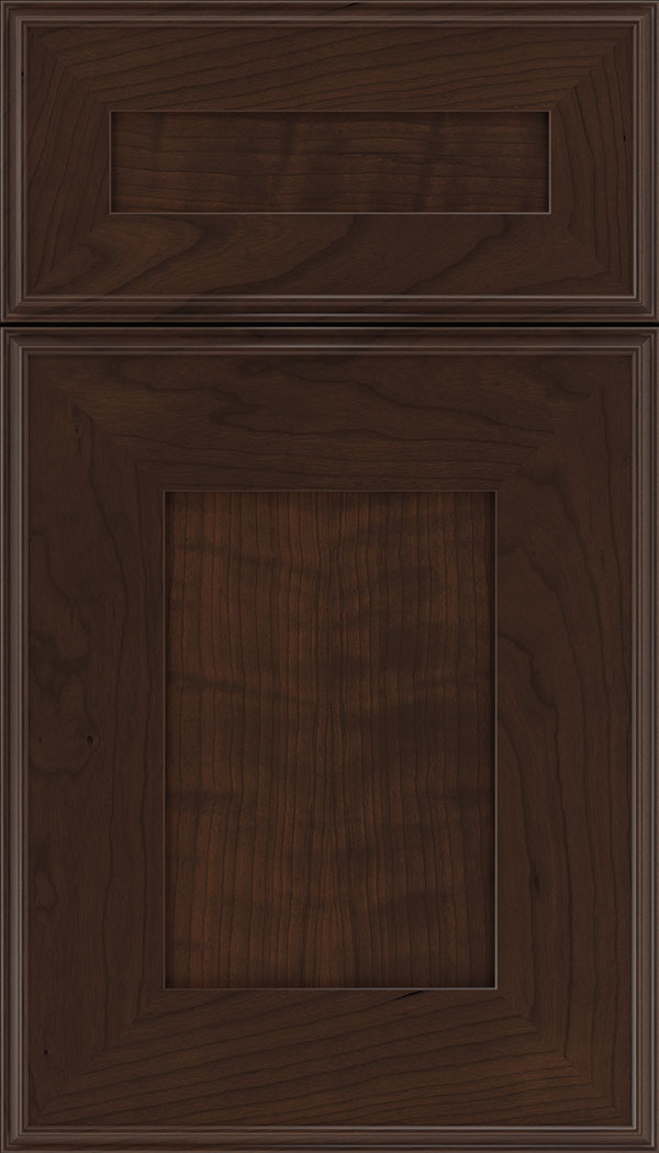 Elan 5pc Cherry flat panel cabinet door in Cappuccino