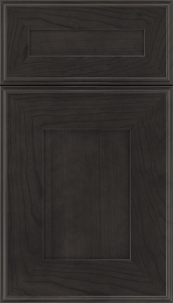 Elan 5pc Cherry flat panel cabinet door in Charcoal