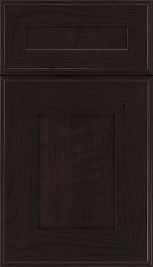 Elan 5pc Cherry flat panel cabinet door in Espresso