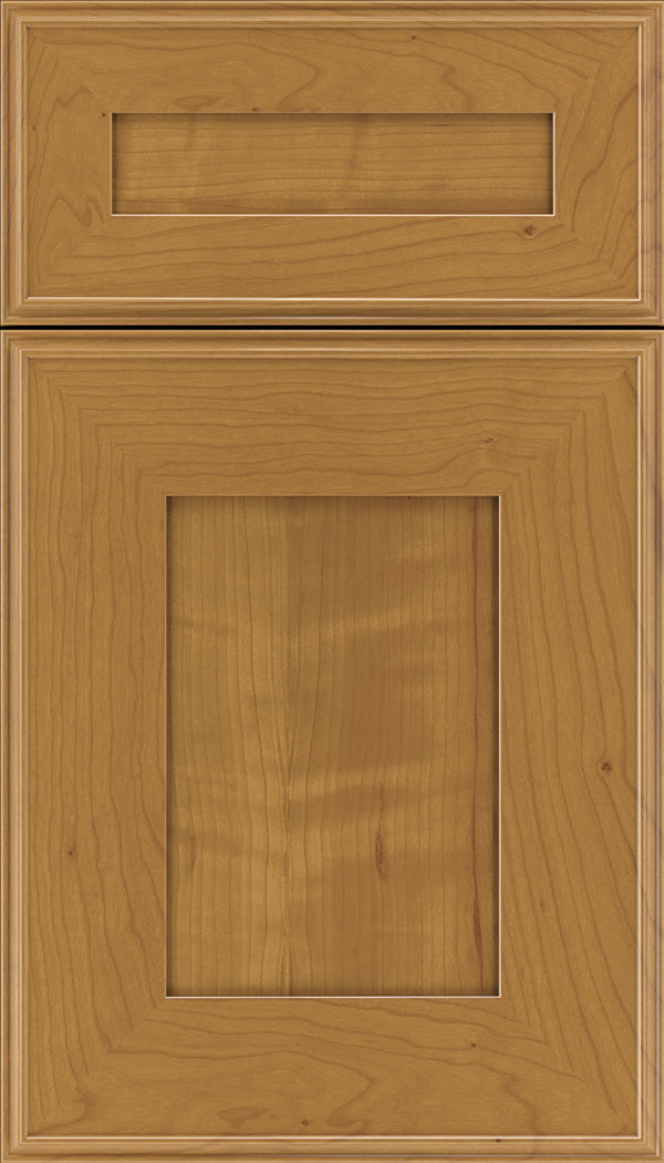 Elan 5pc Cherry flat panel cabinet door in Ginger