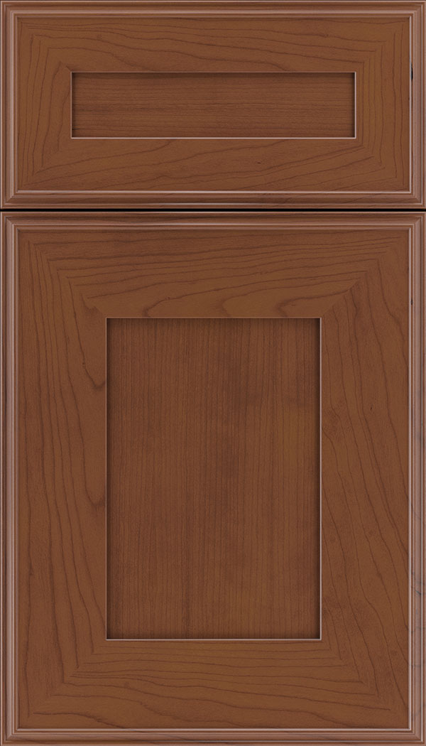 Elan 5pc Cherry flat panel cabinet door in Russet