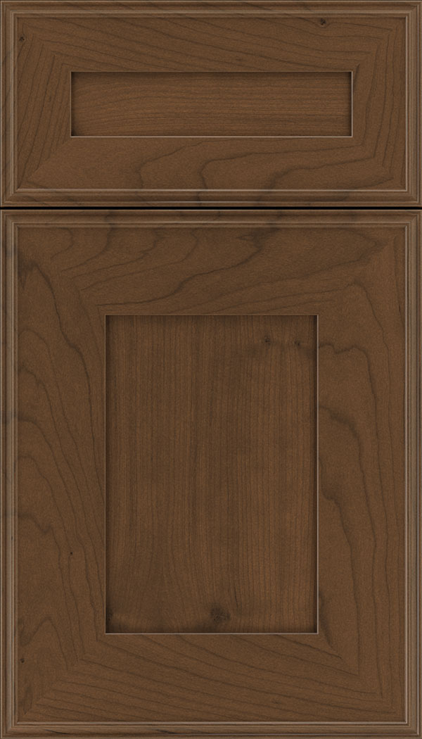 Elan 5pc Cherry flat panel cabinet door in Sienna