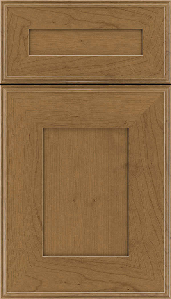 Elan 5pc Cherry flat panel cabinet door in Tuscan