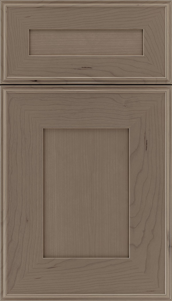 Elan 5pc Cherry flat panel cabinet door in Winter