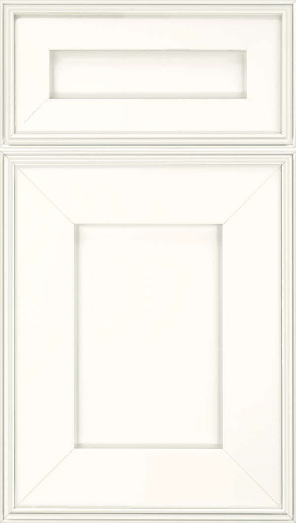 Elan 5pc Maple flat panel cabinet door in Alabaster