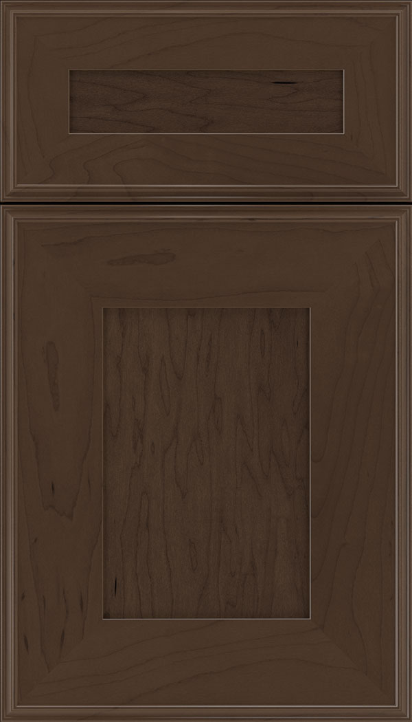 Elan 5pc Maple flat panel cabinet door in Cappuccino