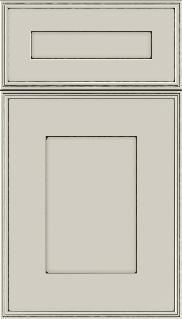 Elan 5pc Maple flat panel cabinet door in Cirrus with Black glaze