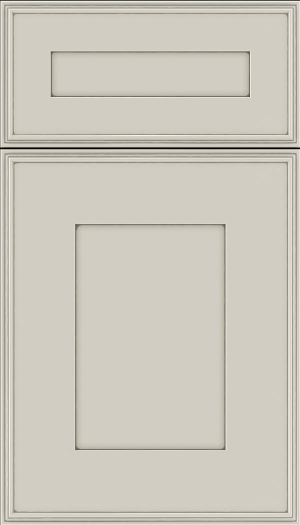 Elan 5pc Maple flat panel cabinet door in Cirrus with Pewter glaze
