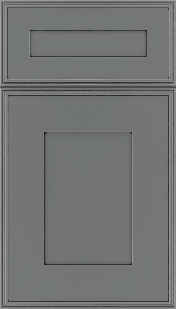 Elan 5pc Maple flat panel cabinet door in Cloudburst with Black glaze