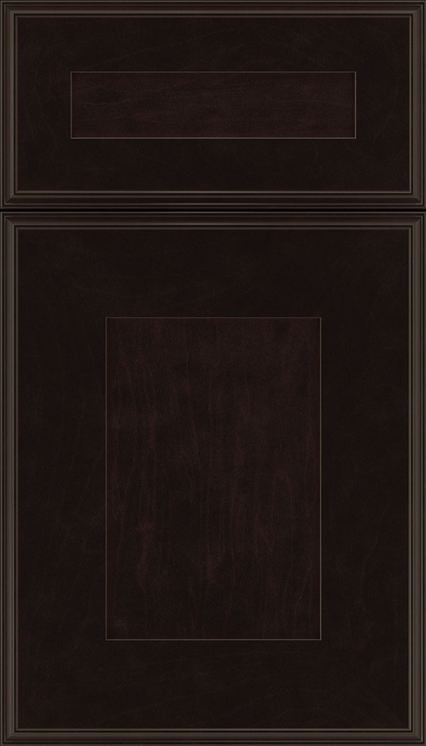 Elan 5pc Maple flat panel cabinet door in Espresso