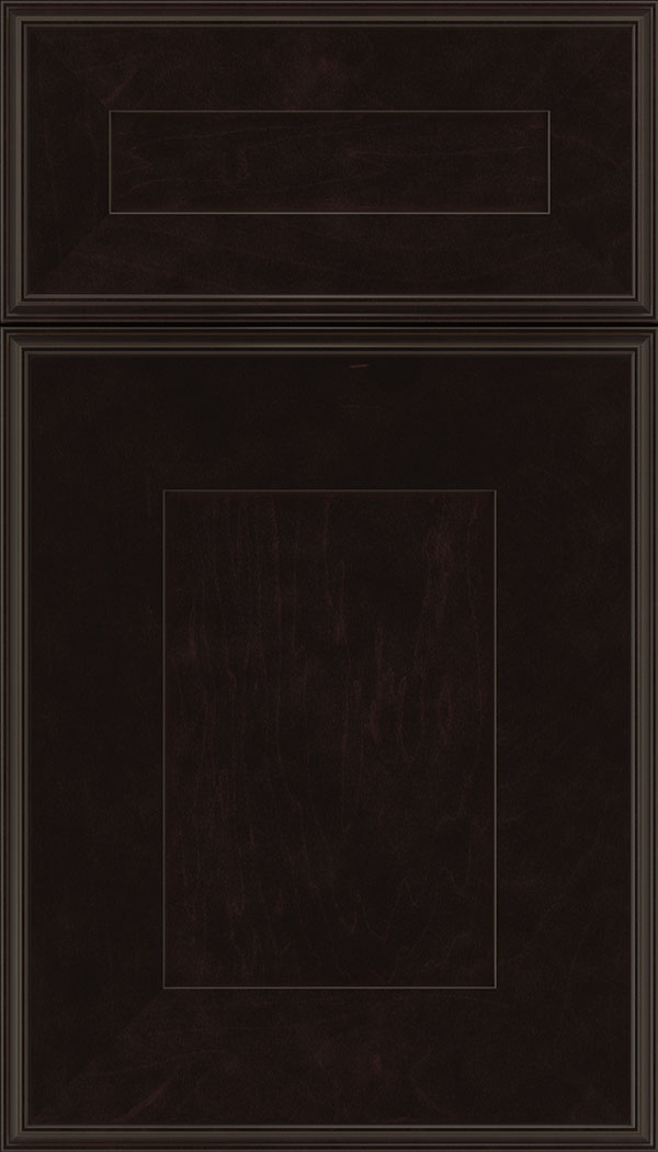 Elan 5pc Maple flat panel cabinet door in Espresso with Black glaze