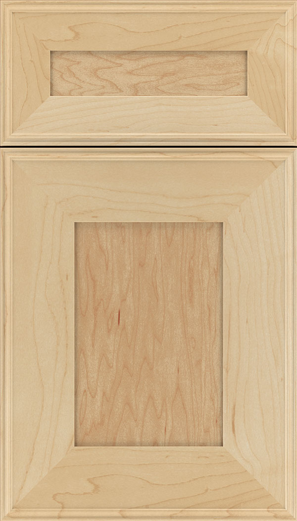 Elan 5pc Maple flat panel cabinet door in Natural