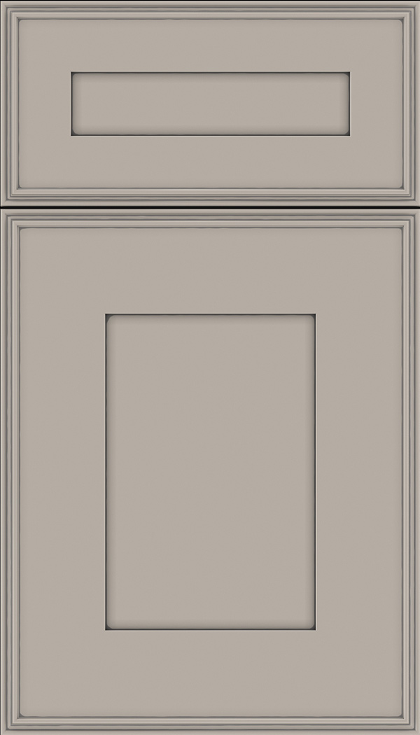 Elan 5pc Maple flat panel cabinet door in Nimbus with Pewter glaze