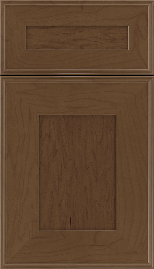 Elan 5pc Maple flat panel cabinet door in Sienna