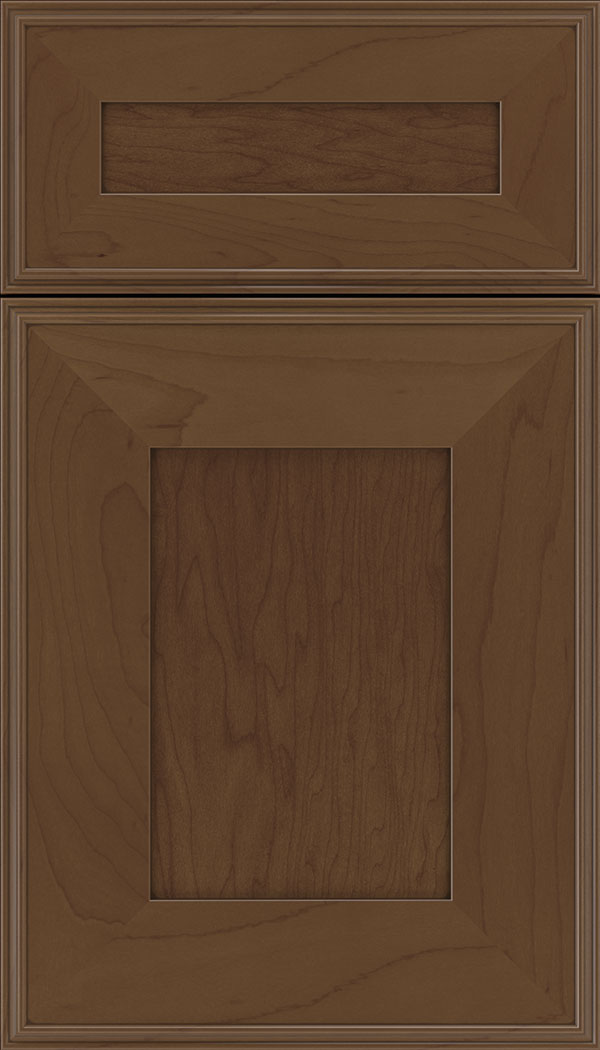 Elan 5pc Maple flat panel cabinet door in Sienna with Mocha glaze