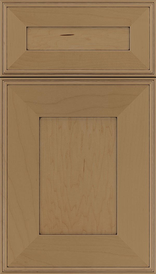 Elan 5pc Maple flat panel cabinet door in Tuscan with Mocha glaze