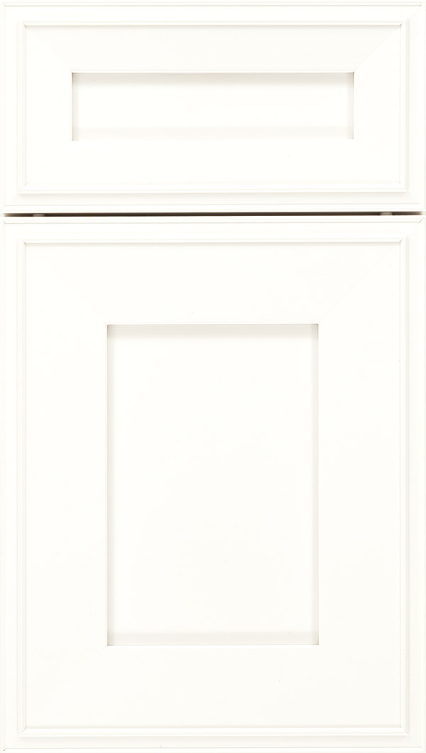 Elan 5pc Maple flat panel cabinet door in Whitecap