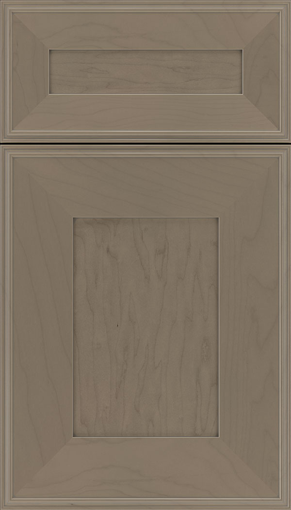 Elan 5pc Maple flat panel cabinet door in Winter with Pewter glaze