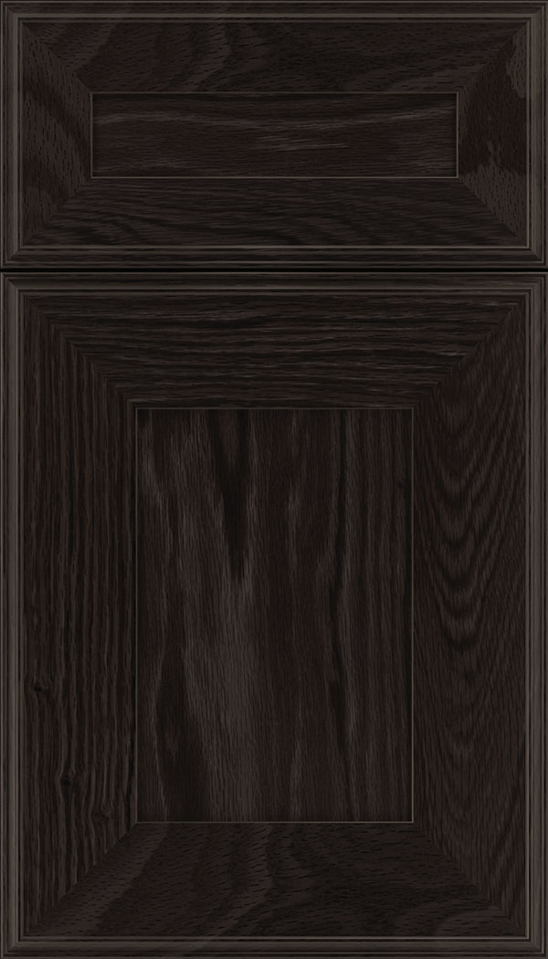 Elan 5pc Oak flat panel cabinet door in Charcoal