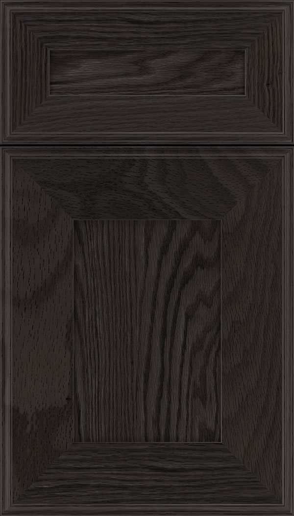 Elan 5pc Oak flat panel cabinet door in Espresso