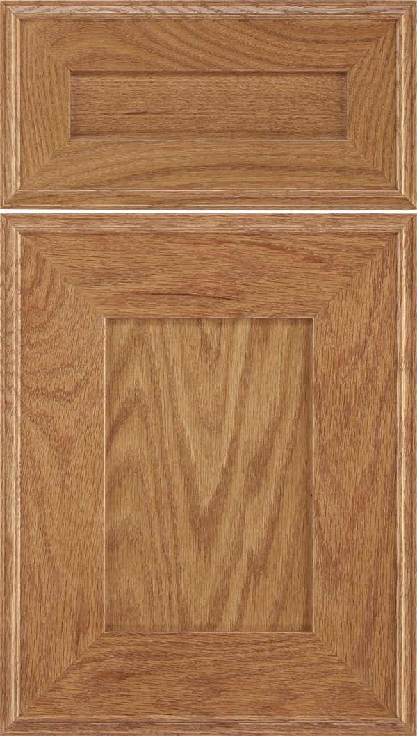 Elan 5pc Oak flat panel cabinet door in Spice