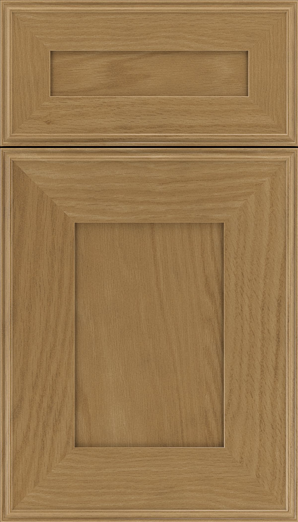 Elan 5pc Oak flat panel cabinet door in Tuscan