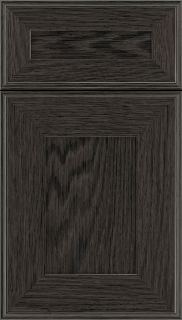 Elan 5pc Oak flat panel cabinet door in Weathered Slate