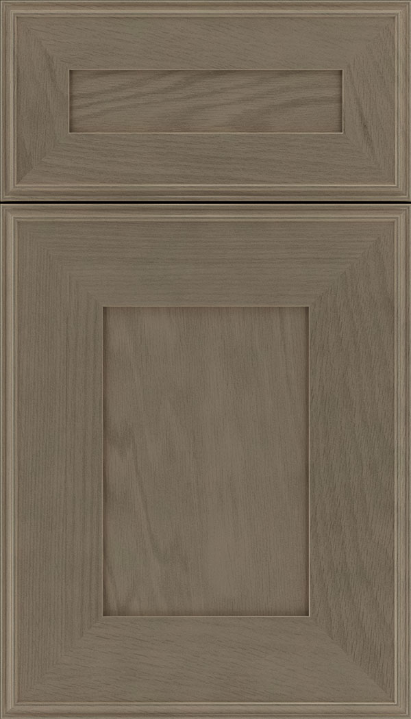 Elan 5pc Oak flat panel cabinet door in Winter