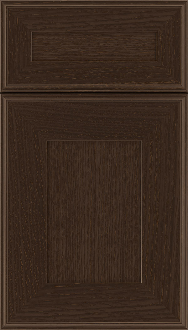Elan 5pc Rift Oak flat panel cabinet door in Cappuccino