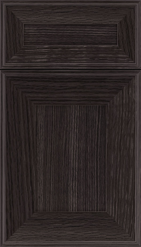 Elan 5pc Rift Oak flat panel cabinet door in Espresso