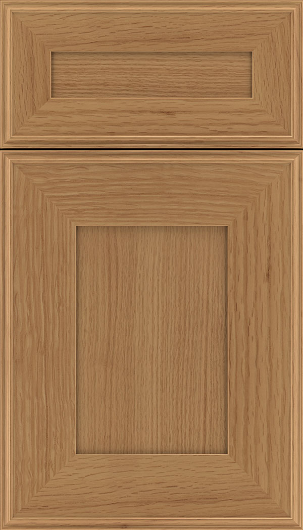Elan 5pc Rift Oak flat panel cabinet door in Ginger