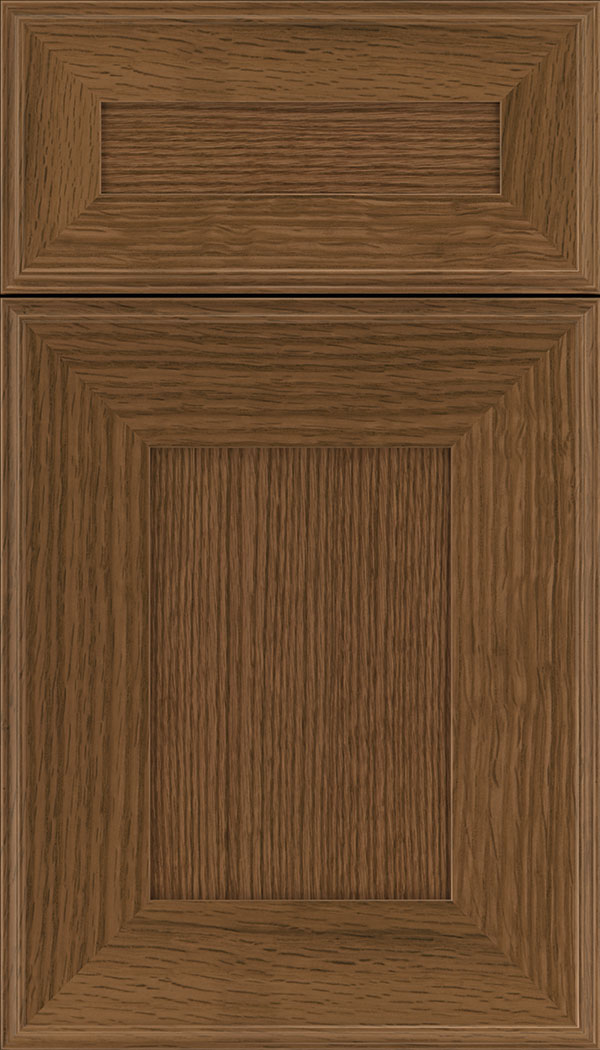 Elan 5pc Rift Oak flat panel cabinet door in Sienna
