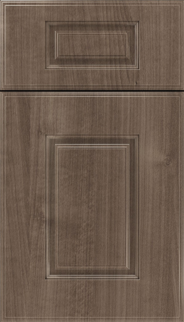 Eldorado 5pc Thermofoil cabinet door in Warm Walnut