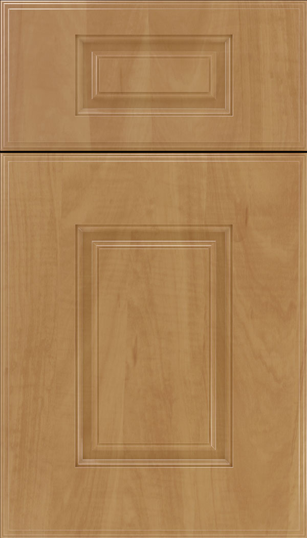 Eldorado 5pc Thermofoil cabinet door in Woodgrain Chardonnay