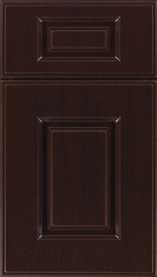 Eldorado 5-Piece Thermofoil cabinet door in Woodgrain Sambuca