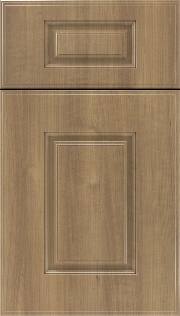 Eldorado 5pc Thermofoil cabinet door in Woodgrain Satinwood