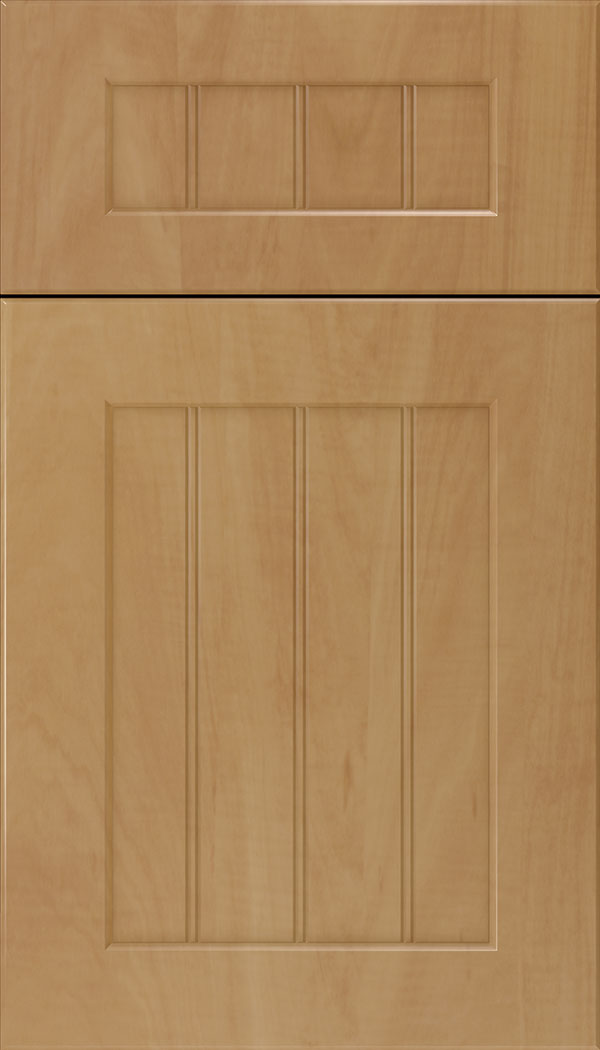 Glendale 5pc Thermofoil beadboard cabinet door in Woodgrain Chardonnay