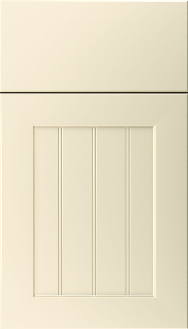 Glendale Thermofoil beadboard cabinet door in Antique