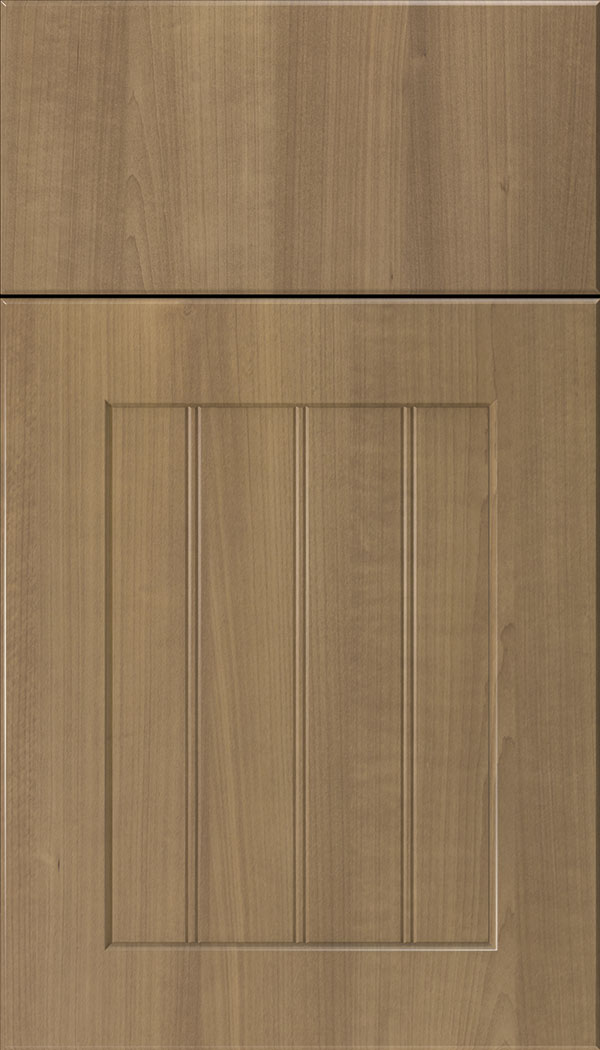 Glendale Thermofoil beadboard cabinet door in Woodgrain Satinwood