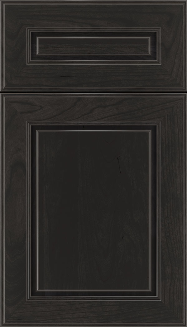 Hampton 5pc Cherry raised panel cabinet door in Charcoal
