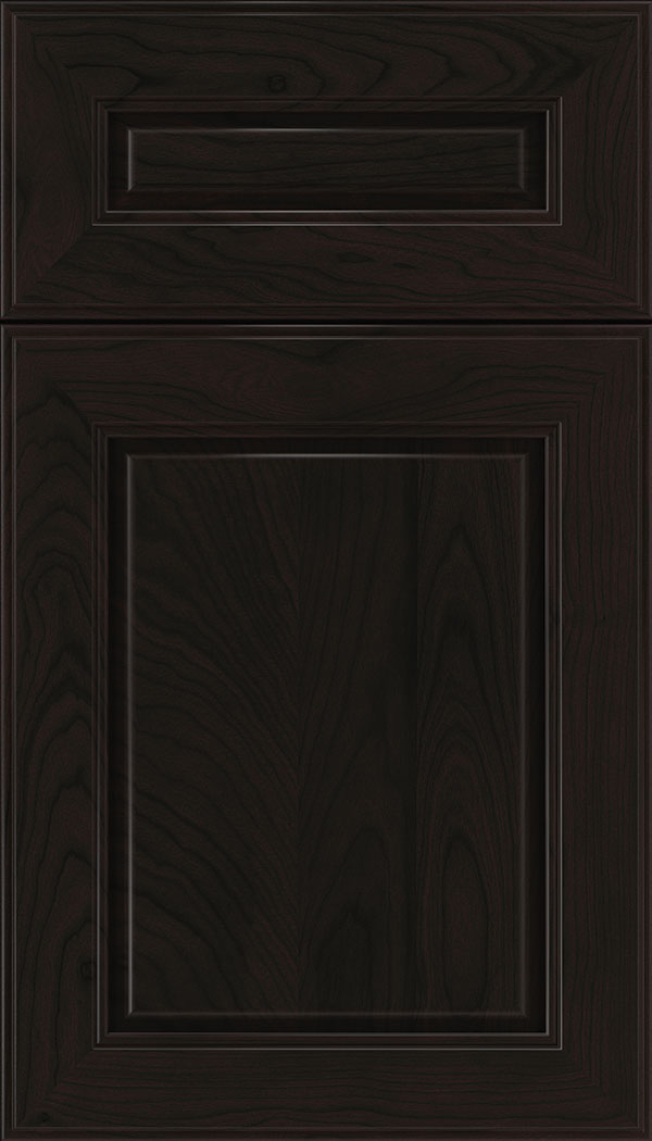 Hampton 5pc Cherry raised panel cabinet door in Espresso